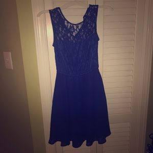 H&M royal blue lace dress